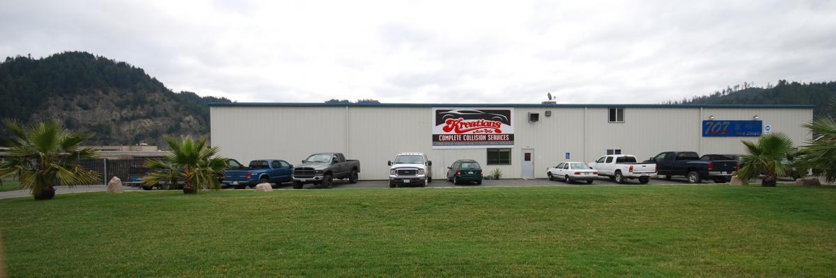 Exterior picture of Kreations Auto Body's Rio Dell, Ca shop