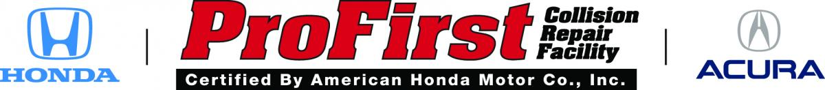 Honda Acura ProFirst Certified collision Repair facility logo
